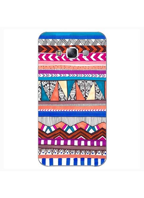 People's Cover Samsung E5 Kabartmalı Telefon Kılıfı Renkli